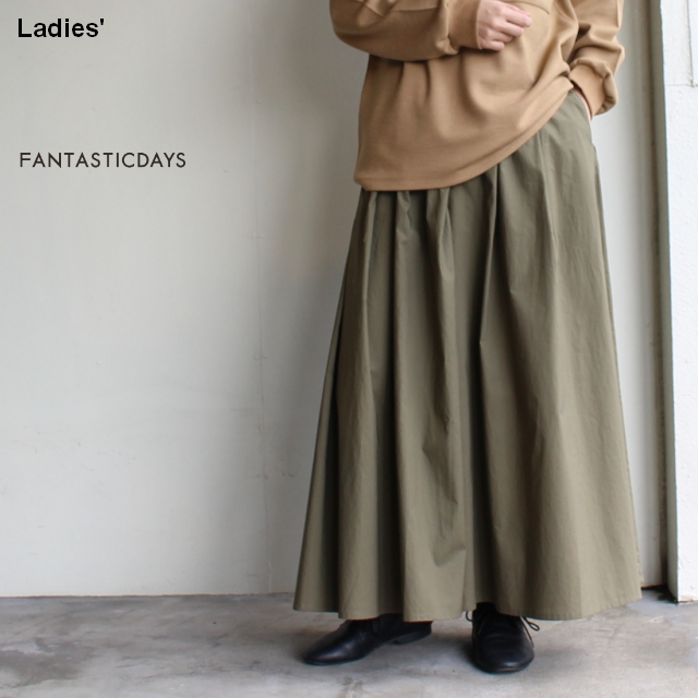 FANTASTICDAYS  スカート風ワイドパンツ GARDEN-82-01 (KHAKI)