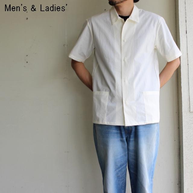 THE HINOKI パラシュートクロス半袖シャツ (WHITE)