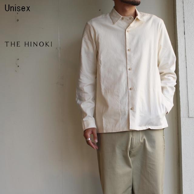 THE HINOKI オックスフォードラウンドカラーシャツ  (NATURAL)