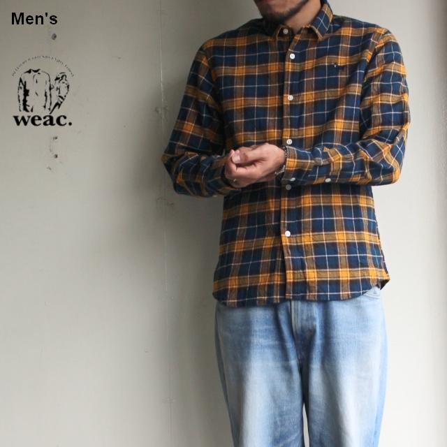 weac. チェックシャツ PUGCHAN  (YELLOW × BLUE)