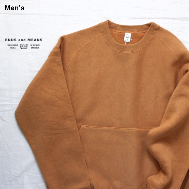 ENDS and MEANS スウェットパーカ EM182C014 (Tobacco)