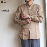HAVERSACK リネンバンドカラーシャツ 821921 (BEIGE)