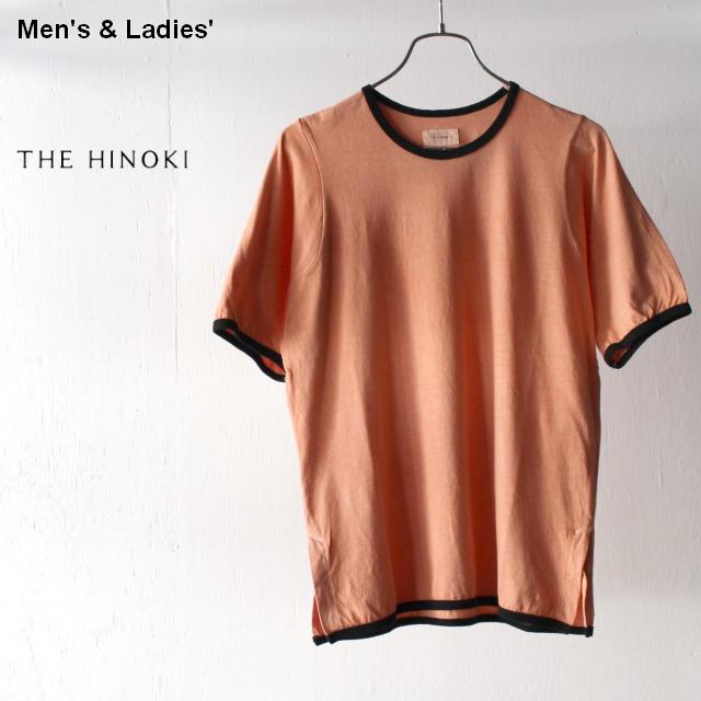 THE HINOKI オーガニックコットンリンガーTee TH19S-30-B (Orange)