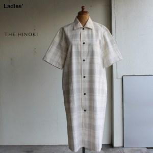 THE HINOKI オーガニックコットンHSシャツドレス TH19S-18 (チェック)