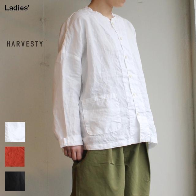 HARVESTY リネンアトリエシャツ Linen Atelier Shirt A31905 3カラー