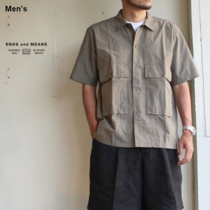ENDS and MEANS Corfu Shirts  グレーカーキ EM191S008