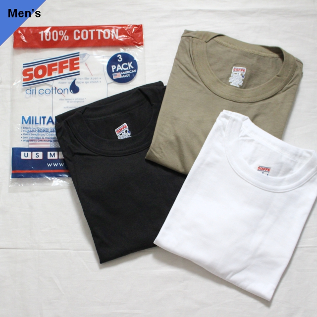 SOFFE 3枚パック半袖Tシャツ 【Exclusive】3Color Set