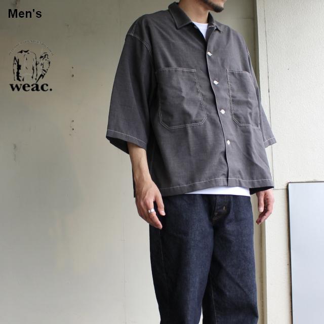 weac. 8分袖ルーズフィットシャツ ELBERT (グレー)