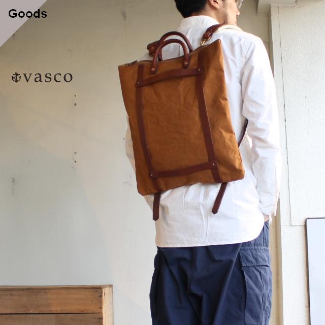 vasco キャンバス×レザーヘルメット2WAYバッグ VS-207 ブラウンカーキ