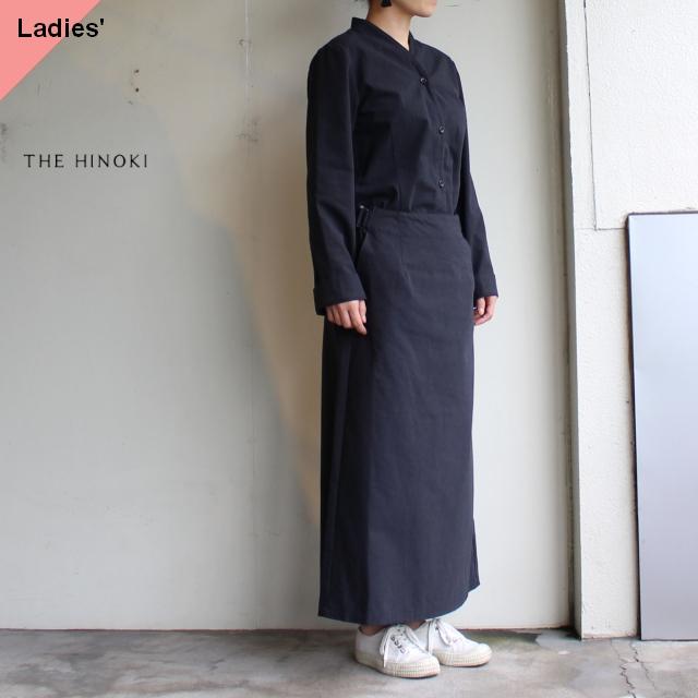 THE HINOKI コットン馬布カラーレスドレス TH19W-15 ブラック