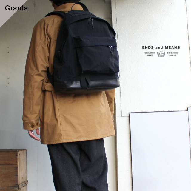 ENDS and MEANS  デイパック EM-ST-A03-AW19 ブラック