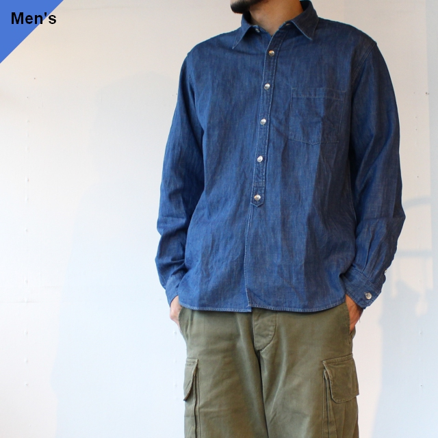 Orgueil オルゲイユ Denim Work Shirt デニムワークシャツ OR-5051B インディゴ