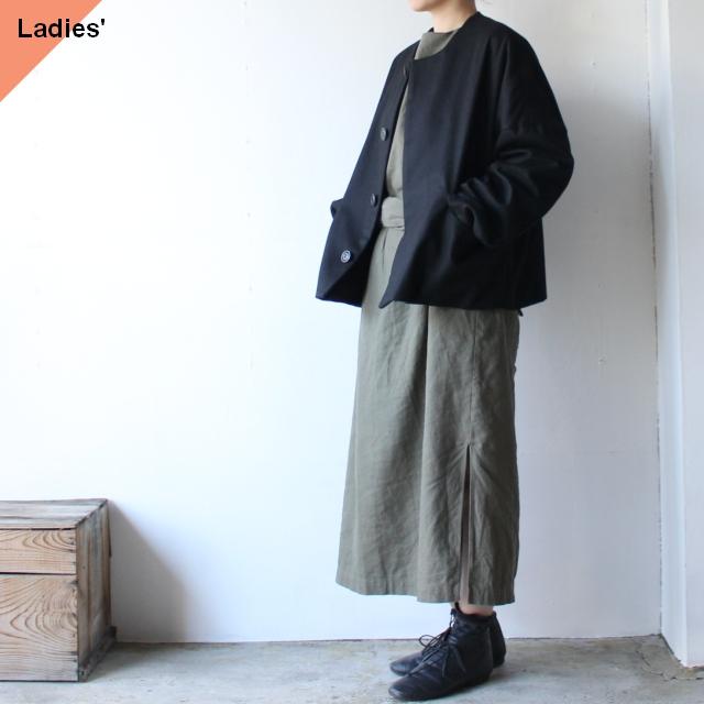 SETTO ウールノーカラージャケット Raffine Jacket ブラック