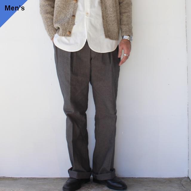 Orgueil オルゲイユ Classic Herringbone Trousers クラシックヘリンボーントラウザー OR-1069 グレー