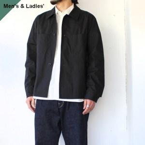 THE HINOKI ザヒノキ Short Shirt Jacket オーガニックコットンウェザーシャツジャケット BLACK
