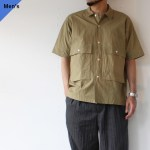 ENDS and MEANS エンズアンドミーンズ Corfu Shirts カーキ EM-ST-S05