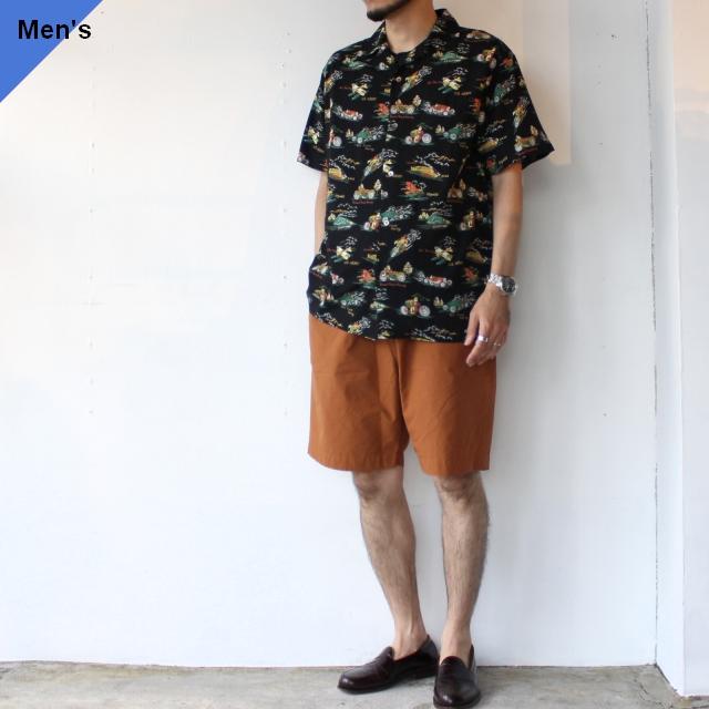 Orgueil オルゲイユ Aloha Shirt アロハシャツ BLACK