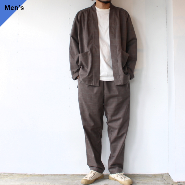 HATENA SHIRTS / RELAX PANTS イージーセットアップ Brown Check