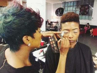 Model Zeldria's makeup done by Rita