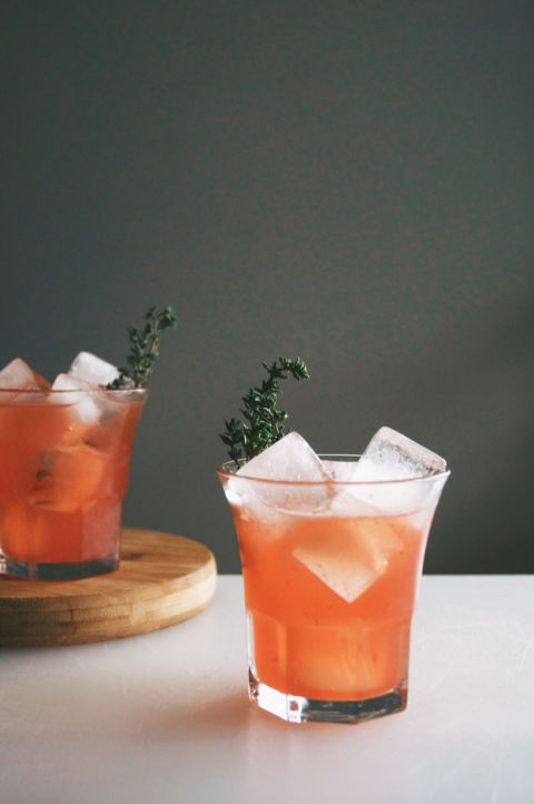 Blood orange juice will turn your cocktail a seriously gorg color. Get the recipe from Holly & Flora.
