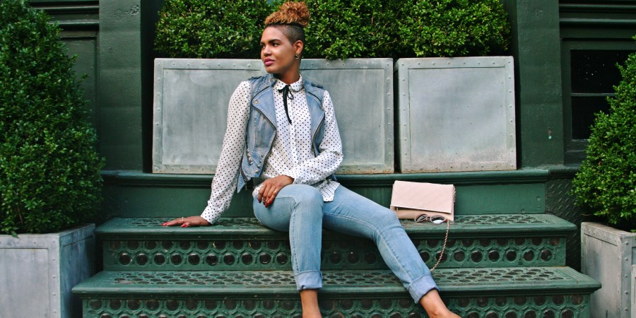 Into The Polka Dot Blouse And Denim C Eclectic Style