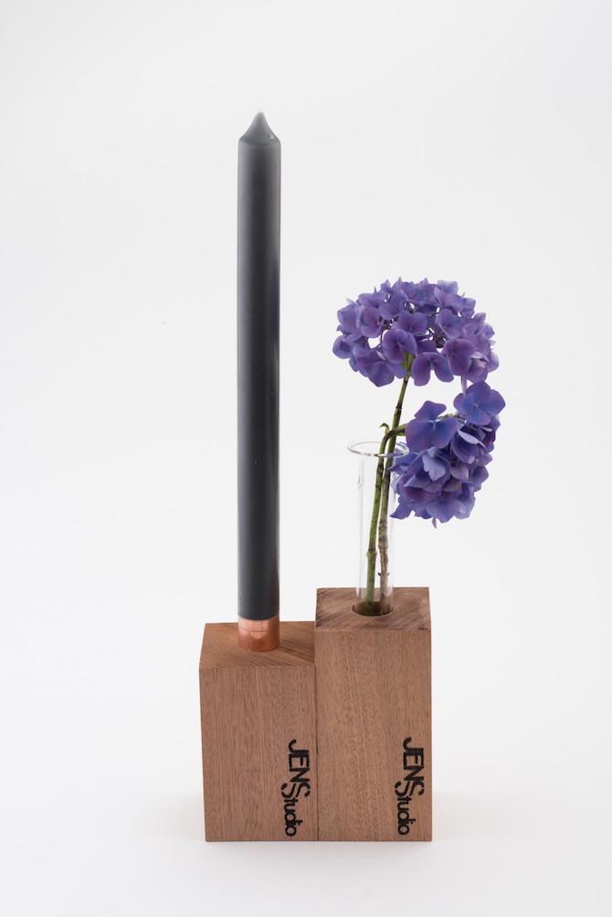 JENSStudio | Vaas en Kandelaar van hout | C-More Concept Store | Honigcomplex Nijmegen