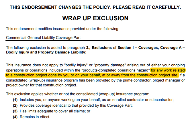 Problematic Wrap-Up Exclusion