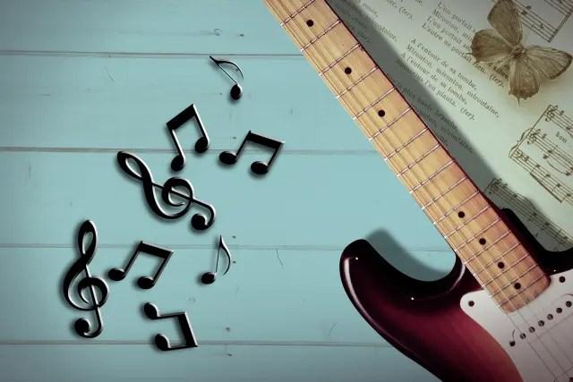 ギターと音符