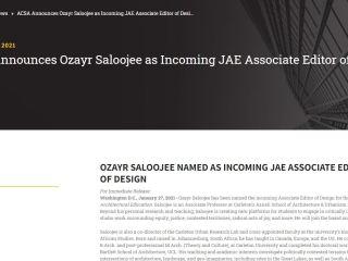 Professor Saloojee is appointed JAE Associate Editor