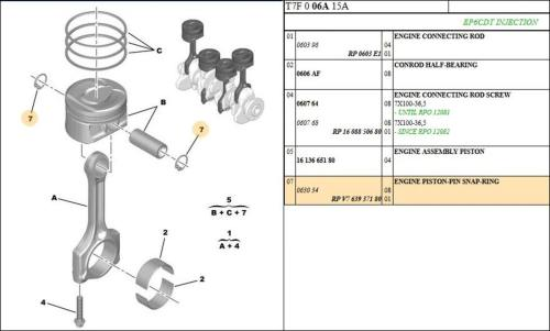 small resolution of 20 x peugeot 508 208 308 engine piston pin snap ring