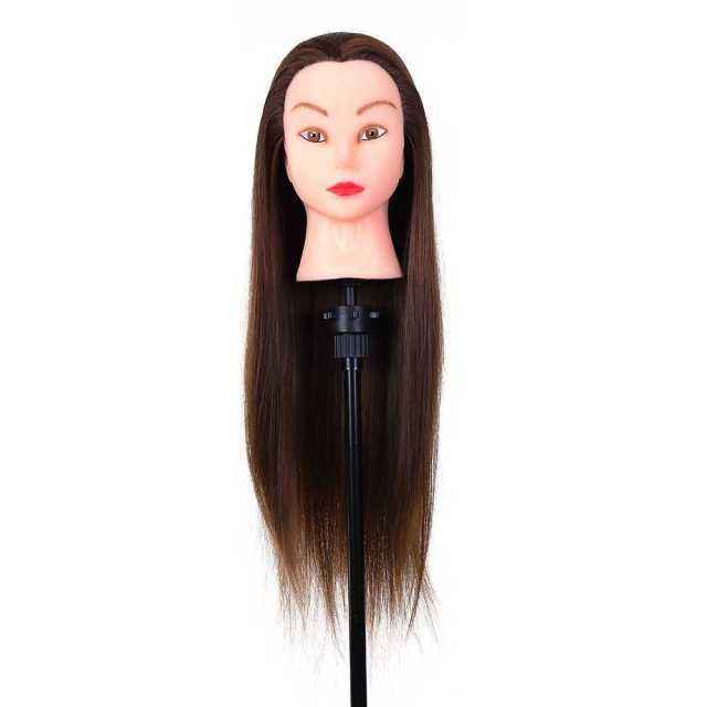 """24"""" mannequin head hairdressing training head for hair styling practice dummy"""