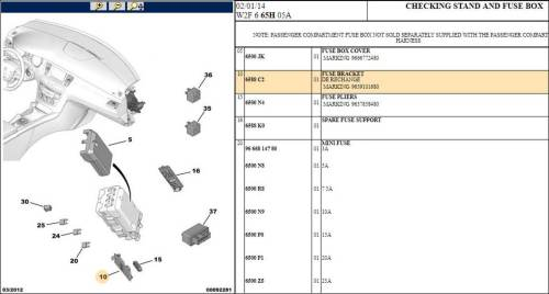 small resolution of 3 x peugeot 508 308 fuse bracket
