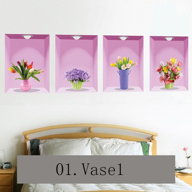 living room flower vases best green paint colors for 3d simulation vase wall stick end 5 14 2019 1 15 pm sticker livingroom decoration
