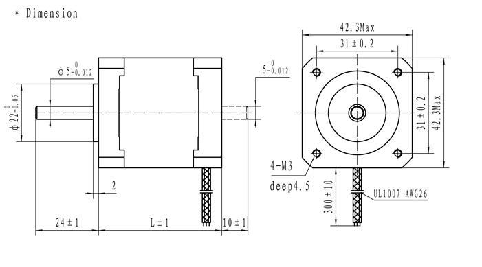 42x47 Stepper Motor Nema 17 for 3D P (end 12/9/2017 2:15 PM)
