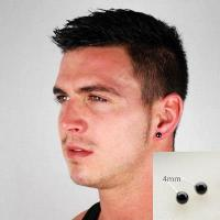 4mm Stud Earrings For Men - Black Ro (end 5/27/2018 2:15 PM)