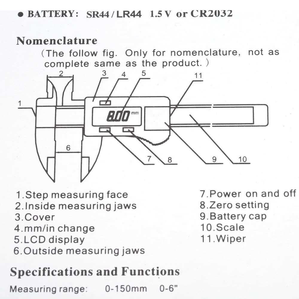 medium resolution of 6 digital gauge vernier caliper fiberglass lcd electronic callipers 150mm mea