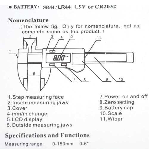 small resolution of 6 digital gauge vernier caliper fiberglass lcd electronic callipers 150mm mea
