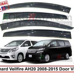 All New Vellfire 2020 Grand Veloz 1.3 Mt Alphard 2nd Gen 2008 201 End 12 5 10 54 Pm 2015 Ag Door Visor Big 12cm Width