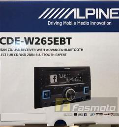 alpine cde w265ebt double din bluetooth cd usb aux car stereo receiver [ 960 x 920 Pixel ]
