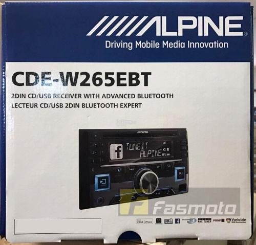 small resolution of alpine cde w265ebt double din bluetooth cd usb aux car stereo receiver