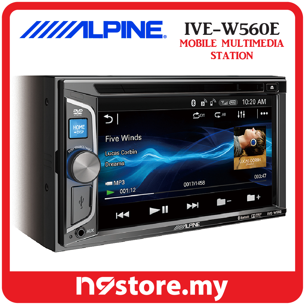 hight resolution of alpine ive w560e 6 1 inch double din bluetooth dvd cd usb car stereo