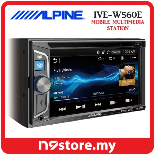 small resolution of alpine ive w560e 6 1 inch double din bluetooth dvd cd usb car stereo