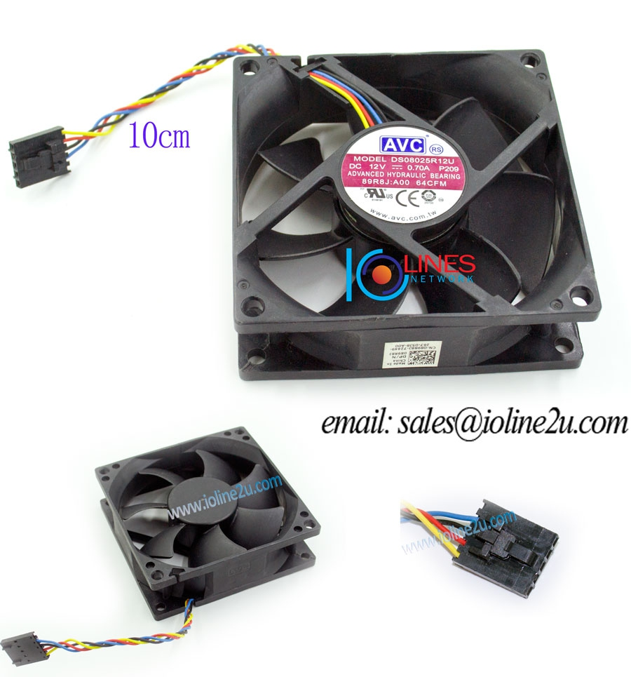 hight resolution of avc ds08025r12u 0 70a 80 80 25mm 12v 0 7a cooling fan dell 5