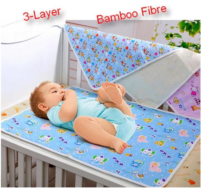 Bamboo Fiber Waterproof Mat Bed Sheet Protector Women Menstrual Pad