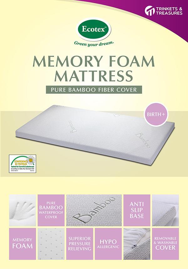 Bamboo Fibre Memory Foam Baby Mattress