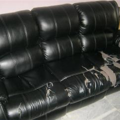 Recliner Sofa In Malaysia Antique Tables For Sale Used Black Pvc Set 3 431 End 1 28 2018 4 15 Pm