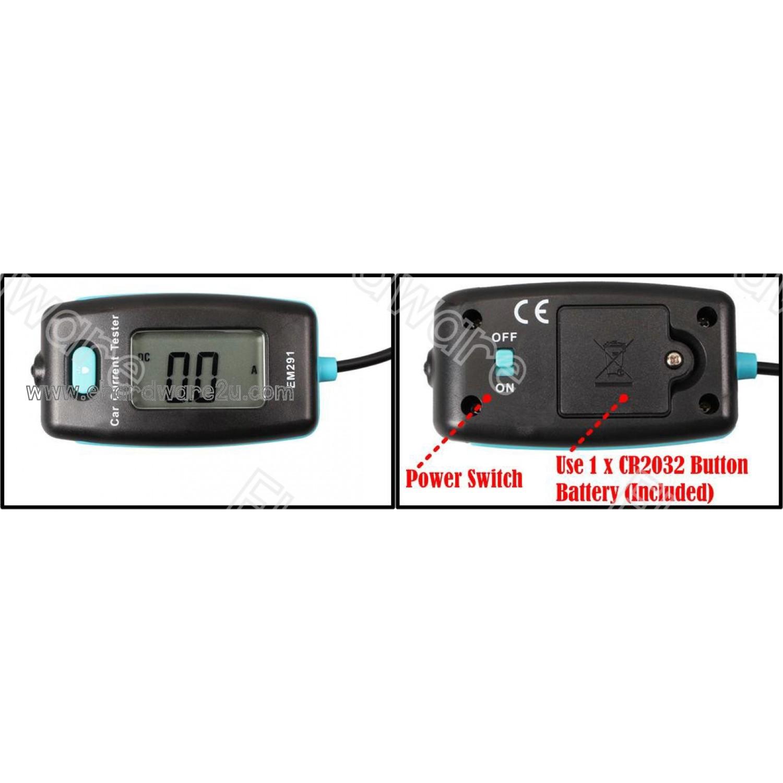 hight resolution of car fuse current measure tester fuse box faulty diagnostics 20a em291