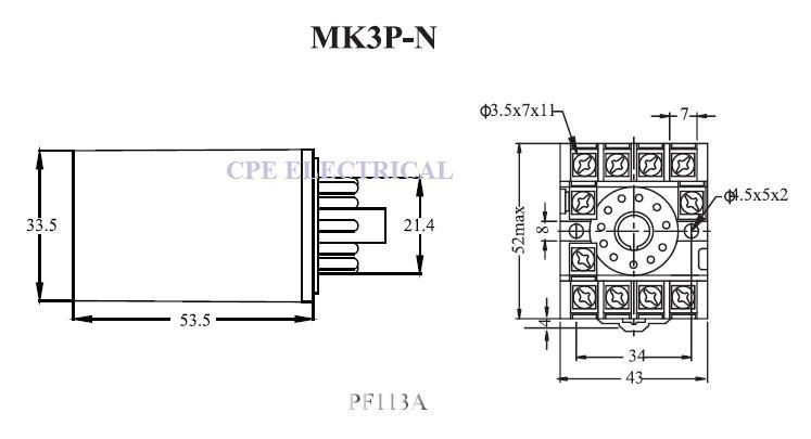 Cikachi MK3P-N 10A 11 Pin 3 Pole Pow (end 9/16/2020 4:15 PM)