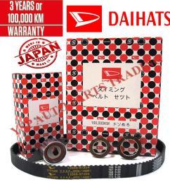 daihatsu 100 000km timing belt component set kancil 850 ezi injection  [ 1000 x 947 Pixel ]