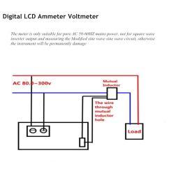 Digital Ac Ammeter Circuit Diagram Glock Exploded View Voltmeter Wiring 32 Images Amp Volt Ampere Current Voltage Meter Lcd